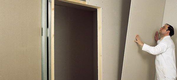 Выравнивание стен гипсокартоном в доме