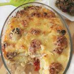 Картофельная запеканка с тефтелями в духовке — рецепт с фото