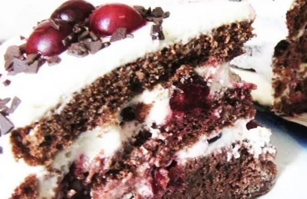 торт с вишней легкий рецепт