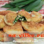 Жареные пирожки с черемшой на творожном тесте — рецепт с фото