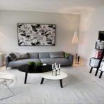 Черно-белая гостиная, дизайн интерьера — фото примеров