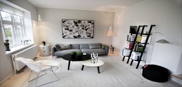 черно белая гостиная дизайн интерьера фото примеров