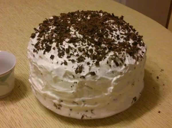 Торт негр в пене шоколадный