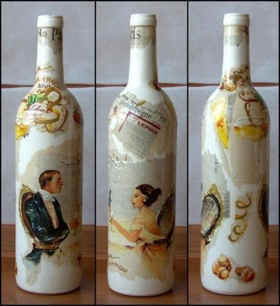 Объемный декупаж бутылок своими руками как получить наросты 43