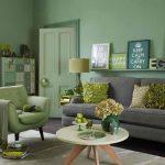 Зеленый дизайн в вашей гостиной — 93 фото примера