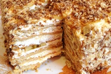 как приготовить торт из творога и печенья без выпечки