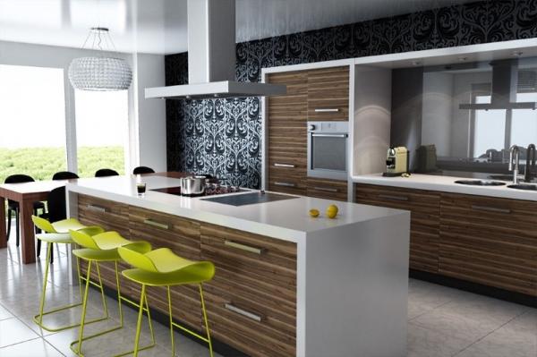кухня студия с барной стойкой советы по оформлению интерьера