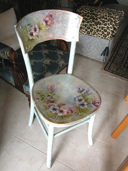 Декупаж стульев для начинающих пошагово