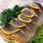 Запеченная красная рыба в духовке с лимоном – рецепт с фото