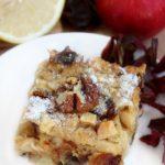 Пирог с яблоками и финиками — рецепт сладкой выпечки