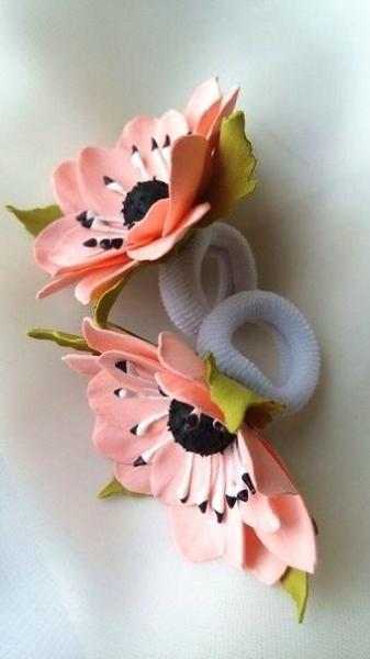 Резинка цветок своими руками фото 16