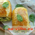 Рулет со шпинатом и творогом — рецепт Юлии Высоцкой