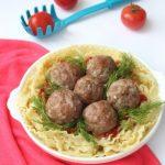 Лазаньетте — гнездышки из макарон с тефтелями в томатном соусе