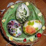 Декупаж яиц: салфетки и мастер-класс, фото деревянной скорлупы, как сделать бутылку, техника с белком и картинки