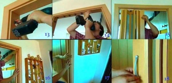 Как сделать дверь гармошку своими руками 34