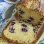 Творожно-лимонный кекс с голубикой — рецепт с фото