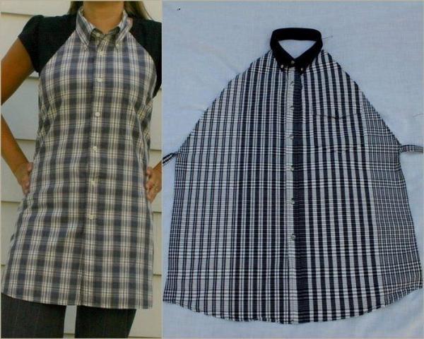 Шьем фартук из мужской рубашки - МирТесен 82