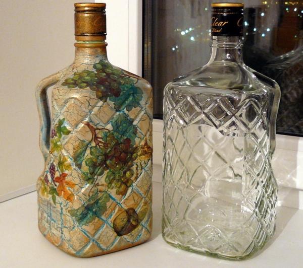 Объемный декупаж бутылок своими руками как получить наросты 54