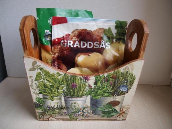 Декупаж ящиков: почтового под старину, для специй и овощей, для вина заготовка, реечный для цветов и мастер-класс 473