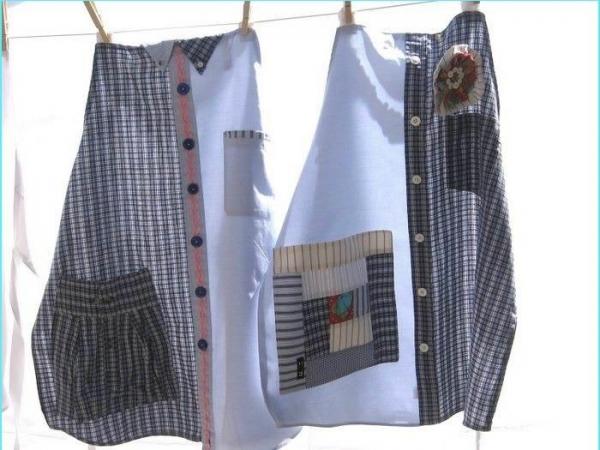 Шьем фартук из мужской рубашки - МирТесен 98