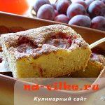 Сливовый пирог с корицей – лучшая выпечка к чаю
