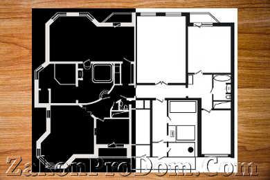 Перепланировка двухкомнатной квартиры распашонки в