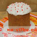 Шоколадный кулич с корицей – рецепт с фото