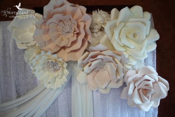 Розы для украшения зала своими руками 27