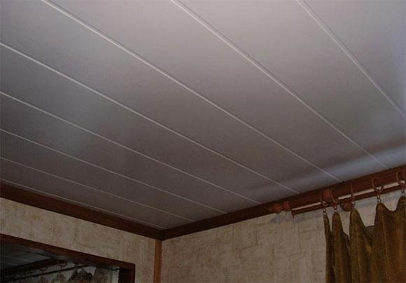 Отделка потолка пвх панели своими руками 88