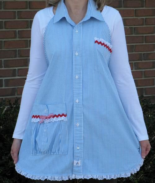 Шьем фартук из мужской рубашки - МирТесен 75