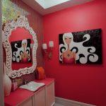 Ванная комната в красных тонах — 71 фото пример