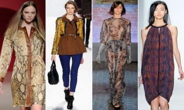 b095755e22c9 Платья и юбки с узором змеиной кожи также появляются на модном показе  Chloe, в то время как Марни доказывает, что этот модный дом обожает змеиные  принты ...