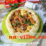 Пирог с фрикадельками под сырной корочкой – рецепт с пошаговым фото