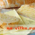 Картофель в слоёном тесте в виде рулета – рецепт с фото