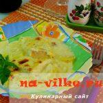 Запеченный палтус с картофелем и сырным соусом – рецепт с фото
