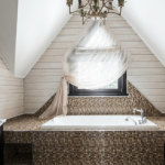 Ванная в деревянном доме — 28 фото примеров