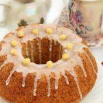 Лимонный кекс с маком в сахарной глазури — рецепт