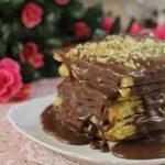 Слоеный пирог из готового теста и рецепт шоколадного крема
