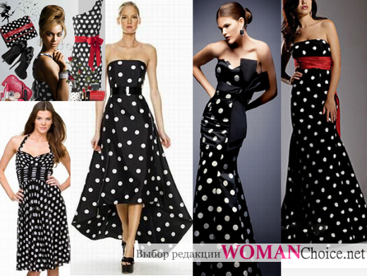 1d50b98fdf6 Платье в горошек  фото и советы как носить