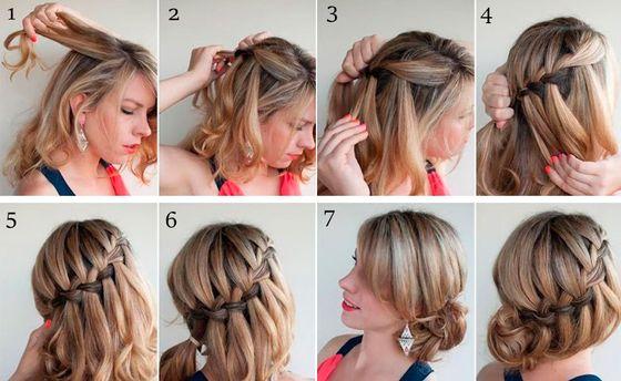 Длинные волосы можно завить несколькими способами, сделать боковую косу или хвост, собрать в элегантный пучок или создать милый бант из волос.