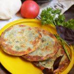 Слоеные блины с сыром и зеленью – рецепт с фото