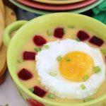 Картофельный суп-пюре с яйцом — рецепт