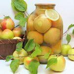 Компот из яблок на зиму на 3 литровую банку рецепты с фото пошагово