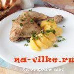 Куриные окорочка в рукаве в мультиварке с картофелем
