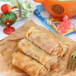 Крахмальные блины с капустной начинкой – рецепт приготовления