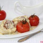 Салангани с фаршем, соусом и помидорами — рецепт с фото