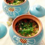 Пельмени с овощами в горшочках — рецепт приготовления