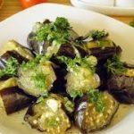 Баклажаны маринованные с чесноком и зеленью быстрые рецепты с фото