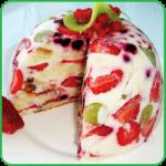 Фруктово бисквитный торт рецепт