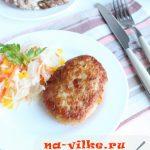 Куриные котлеты с сыром в духовке – рецепт с фото